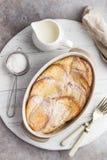 Pudim de pão com manteiga foto de stock royalty free