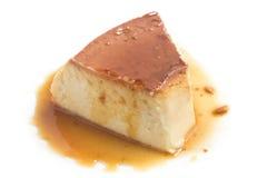 Pudim do leite Torta de fruta brasileira foto de stock royalty free