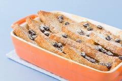 Pudim do pão e da manteiga Fotografia de Stock