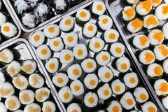 Pudim doce da sobremesa tailandesa com cobertura do coco Fotos de Stock Royalty Free
