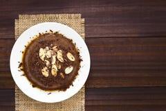 Pudim ou torta de fruta de chocolate Imagem de Stock