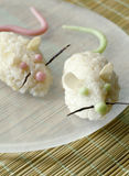 pudines de arroz Ratón-formados Fotografía de archivo libre de regalías