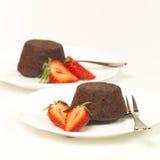 Pudines de chocolate Imagen de archivo