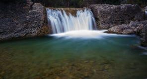 Pudle o berço, rota de Rio Borosa, serra de Foto de Stock