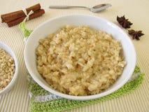 Pudín de arroz de la leche de Mochi Imagen de archivo libre de regalías