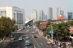 pudong οδός της Σαγγάης Στοκ Φωτογραφίες
