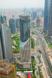 Pudong Bezirk in Shanghai Stockfotografie