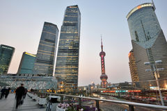 Pudong district evening view Royalty Free Stock Photography