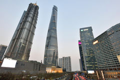 Pudong district evening view Royalty Free Stock Images