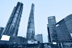 Pudong district evening view Stock Images