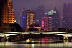 Pudong district night, Shanghai Royalty Free Stock Image