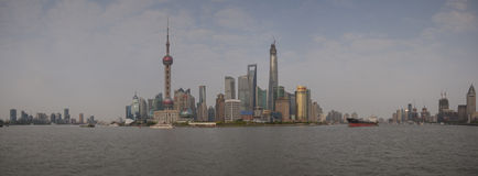 Pudong district panoramic view Stock Photography