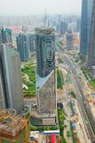 Pudong district in Shanghai Stock Photography