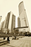 Pudong district skyscrapers Royalty Free Stock Photos