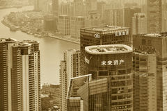 Pudong district skyscrapers Stock Images