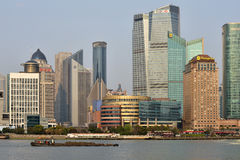 Pudong district skyscrapers Royalty Free Stock Photo