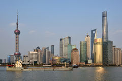Pudong district view from The Bund waterfront area Royalty Free Stock Photography
