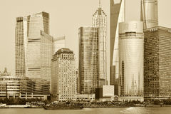 Pudong district view Royalty Free Stock Image