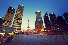 Pudong financial district Shanghai Royalty Free Stock Images