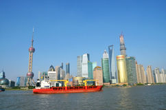 Pudong microcosm. Taken in Shanghai, May 13, 2013 Royalty Free Stock Photos