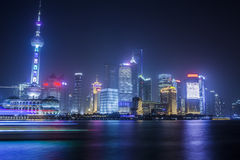 The Pudong at night Royalty Free Stock Photography