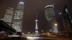 Pudong at Night stock video footage