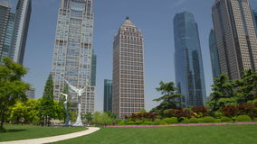 Pudong park day hyperlapse stock video footage