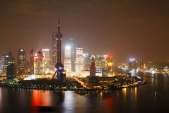 Shanghai at night Royalty Free Stock Photos