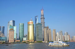 Pudong scenery. Taken in Shanghai, May 13, 2013 Royalty Free Stock Photo