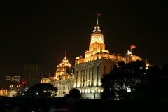 pudong shanghai ночи bund Стоковые Изображения RF