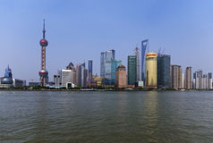Pudong, Shanghai. Cityscape of Pudong in Shanghai Stock Photography