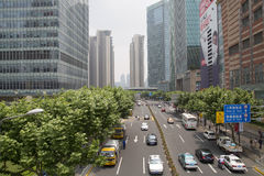 pudong shanghai Royaltyfri Foto