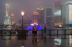 Pudong in Shanghai, China. Lizenzfreie Stockfotografie