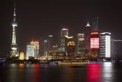Pudong Shanghai China TV Tower at Night Stock Images