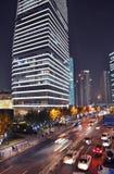 Pudong Shanghai at night stock images
