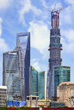 Pudong with Shanghai Tower under construction, Shanghai, China Stock Image