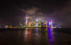Pudong skyline at night Stock Photo