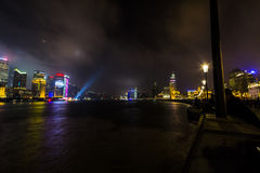 Pudong skyline at night Stock Image