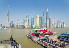 Pudong skyline in shanghai china Stock Photos
