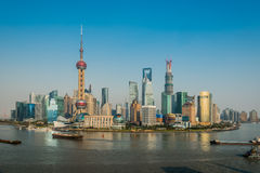 Pudong skyline shanghai china Royalty Free Stock Photos
