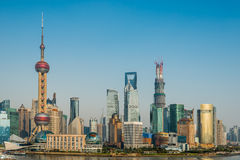 Pudong skyline shanghai china Stock Photos