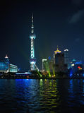 Pudong Skyline Shanghai, Pearl Tower Royalty Free Stock Photography