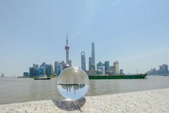 Pudong terenu nowa linia horyzontu, Szanghaj, Chiny Obrazy Stock