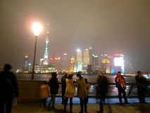 Pudong, view from Bund Stock Images