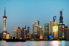 Pudong waterfront at sunset Shanghai China Royalty Free Stock Photography