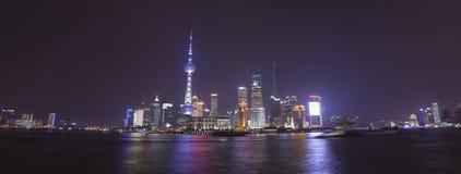 Pudong widok na Bund bulwarze w Szanghaj, Chiny Fotografia Royalty Free