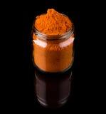 Pudrad curry kryddar I Arkivbild