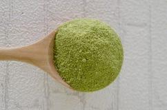 Pudrat grönt te för matcha Royaltyfri Fotografi