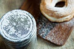 Pudrat socker Arkivfoton