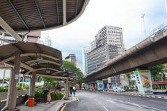 Pudu公共汽车站在吉隆坡市中心 免版税库存照片